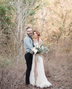 alternative and edgy vow renewal in the woods