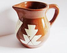 Vintage Sioux Pottery Rapid City South Dakota Signed Iron Wing Red Brown Clay Terra Cotta Native American Vase Pitcher Pine Ridge Pottery