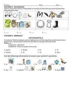 Spanish Clothing & Accessories Lesson $