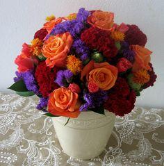 Fall Wedding Flowers, Fall Wedding Colors, Flower Bouquet Wedding, Purple Wedding, Sunset Wedding, Flower Bouquets, Bridal Bouquets, Renewal Wedding, Our Wedding