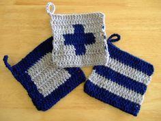 Crochet Kitchen, Crochet Projects, Pot Holders, Crochet Bikini, Textiles, Tapestry, Diy Crafts, Knitting, Dishcloth
