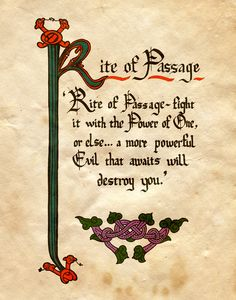 """Rite of Passage"" - Charmed - Book of Shadows"