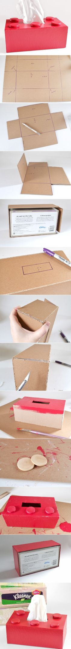 DIY Lego Tissue Box