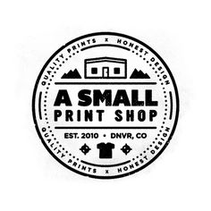 A Small Print Shop Logo by Justin Pervorse - check out the rest of his work! So good!