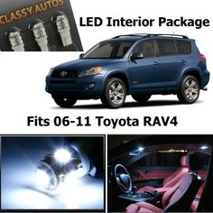 Classy Autos Toyota Rav4 White Interior LED Package (6 Pieces) - http://shop.caraccessoriesonlinemarket.com/classy-autos-toyota-rav4-white-interior-led-package-6-pieces/
