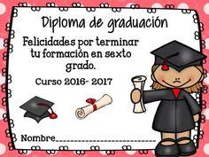 Diplomas de Graduación y fin de curso 2017 en formato editable y originales - Imagenes Educativas