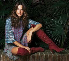 Alessandra models bohemian inspired looks for the shoot