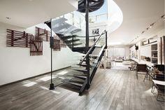 Ultra Modern Steel Stair Case. A Brooklyn Townhouse.