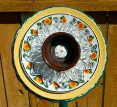 Glass yard art garden art forever flowers by 3SisterzJewelry, $30.00