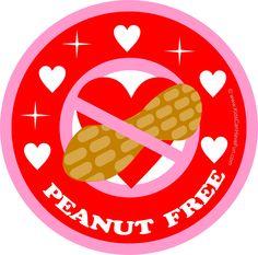 Valentine Heart Peanut Free Poster