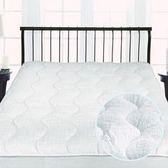 """St.James Home Twice as Nice 300 Thread Count Reversible 18"""" Polyester Mattress Pad"""