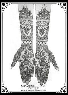 Bridal Henna Sketch  www.ornamentalhenna.com Bridal henna designs, Bridal mehndi…