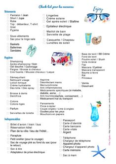 Check list vacances offerte par Marie-Maguelone Plus Camping With Kids, Family Camping, Tent Camping, Camping List, Camping Trailers, Camping Hacks, Camping Checklist, Camping Essentials, Check Up