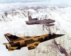 South African Air Force Dassault Mirage & Atlas Impala in flight