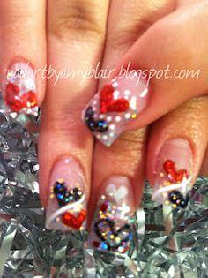 Valentines Nails  nailartbyamyblair.blogspot.com