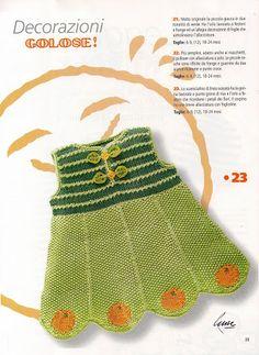 basta un filo........ lavori a maglia per bambini: golose decorazioni