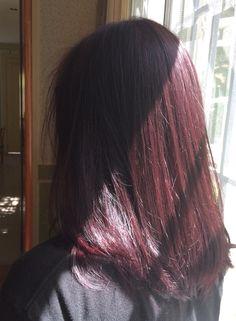 Hair Dye Colors, Hair Color, Pelo Color Vino, Cabelo Inspo, Red Hair Inspo, Haircuts Straight Hair, Applis Photo, Burgundy Hair, Dye My Hair