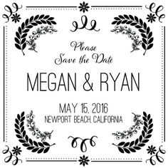 Pretty and Simple Save the Date