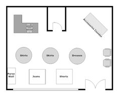 store floor plan design. Create Floor Plan Examples Like This One Called Clothing Store Layout From Professionally-designed Templates. Simply Add Walls, Windows, Doors, Design