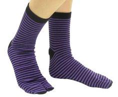 """tabbisocks Unisex """"Punk Stripes"""" Japanese Tabi Socks (Purple) tabbisocks. $12.99"""