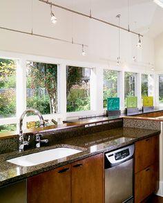 New art deco kitchen lighting living rooms Ideas Wire Track Lighting, Track Lighting Bedroom, Modern Track Lighting, Living Room Lighting, Cool Lighting, Lighting Ideas, Art Deco Kitchen, Kitchen Ideas, Country Kitchen Lighting
