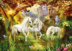 Magical unicorn forest by Jan Patrik Krasny    http://www.magnoliabox.com/art/462119/Magical_unicorn_forest