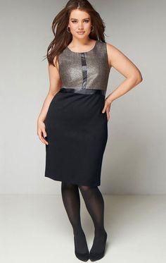 Taillissime robe bi matiere Photos de la collection Taillissime automne  hiver 2013  décryptage des tendances