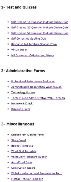 20+ Google Form Teachers Should Not Miss - oh so perfect for accessing and completing formative assessment on a mobile device! http://www.educatorstechnology.com/2012/12/20-google-forms-teachers-should-not-miss.html                                                                                                                                                     More