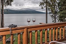 It's easy to fall in love when this is your view- two glasses of wine, bird watching & a beautiful lake. We love our guests and valued team members- wishing you all a Happy Valentine's Day!   📍Kokanee Lodge, Odell Lake- Shelter Cove Resort & Marina