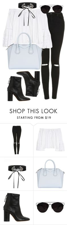 """Untitled #454"" by allysa-bojador ❤ liked on Polyvore featuring Topshop, Carolina Herrera, Givenchy and Isabel Marant"