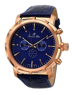Men's NYC Rose Gold & Blue Mother of Pearl Watch