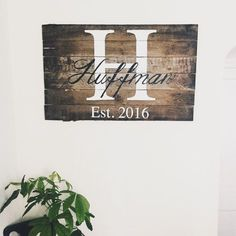 Rustic Home Decor Family Name and Initial Pallet Sign