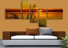 Canvas panels wall art - room decoration ideas