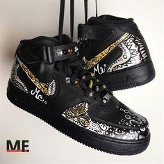 Handpainted shoes, custom shoes, custom sneakers, custom air force one
