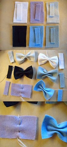 Take a look around you and I bet you can notice bows everywhere and on anything. If you have wondered how to make them and where to put them, read on. In this post I present you 26 interesting DIY ideas how to make bows. Diy Fleur Papier, Felt Crafts, Diy Crafts, Sewing Crafts, Sewing Projects, Sewing Tutorials, Do It Yourself Inspiration, Style Inspiration, Felt Bows