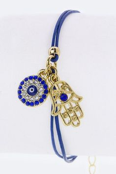 Ever wondering what to give to a girl friend? Anyone confused with giving gifts will now become enlightened with this charming bracelet crystal hamsa and evil eye charm bracelet. Bracelet Length: 6.5