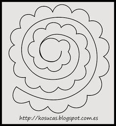 Kosucas : Patrón de rosa.