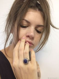 Винтаж: Кольцо серебро сапфиры Китай экспорт Class Ring, Rings, Jewelry, Fashion, Moda, Jewels, Fashion Styles, Ring, Schmuck