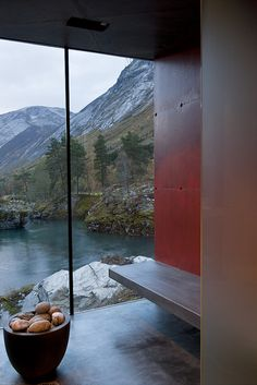 Juvet Landscape Hotel1, via Flickr, in Norway-- I want to go!