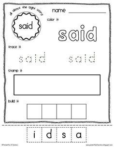 Sight word idea