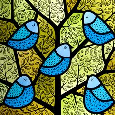 One of Flora's stained glass creations --- Bugs and Fishes by Lupin: Crafty Ladies: Meet Flora Jamieson