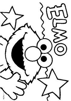 kleurplaat Elmo Kids-n-Fun