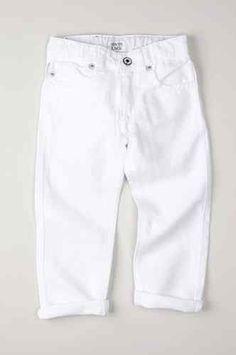 ARMANI JUNIOR Armani Boy's 5 Pocket White Jeans $95