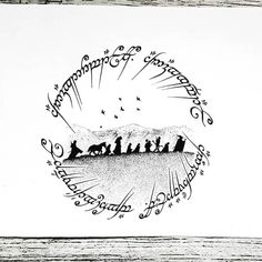 The Hobbit Ink Illustrations with a Meaning. Click the image, for more art by Mandy Razik.