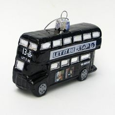 GLASS LET IT BE BUS ORNAMENT [7482] - $14.00 : Beatles Gifts, The Fest for Beatles Fans