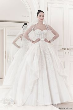 zuhair-murad-wedding-dresses-spring-2014-bridal-sarina-strapless-ball-gown.jpg (600×900)