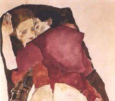 Two Girls (Lovers) (1911), Egon Schiele