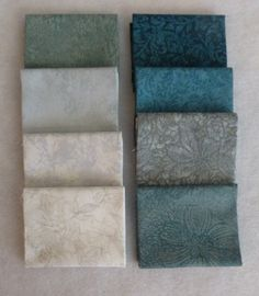 Cotton Fabric,Quilt,Craft,Jinny Beyer,Fat Quarter Bundle of 8, Group #1 ,Greens RJR Fabrics, Fast Shipping,FQ114