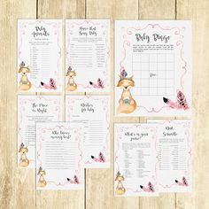Hey, I found this really awesome Etsy listing at https://www.etsy.com/listing/522840930/fox-baby-shower-games-package-ideas