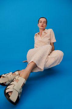 JACQUARD POLO | ZARA United States Look Zara, Online Zara, Short Sleeve Polo Shirts, Trousers Women, Women's Trousers, Skinny Fit, Wrap Dress, My Style, Orange